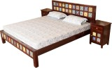 Induscraft Solid Wood Queen Bed (Finish ...