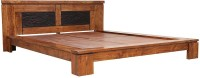HomeTown Leopold Solid Wood Queen Bed(Finish Color -  Brown)