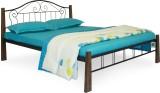 FurnitureKraft Metal Queen Bed (Finish C...