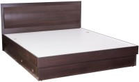 Durian Rose Engineered Wood Queen Bed With Storage(Finish Color -  Denver Oak)