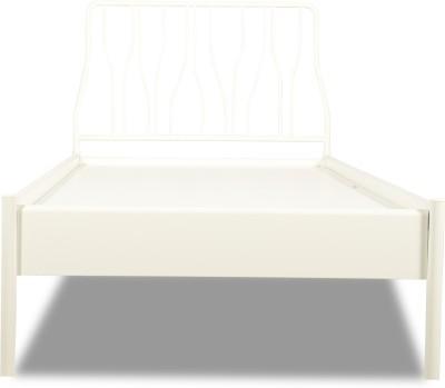 Godrej Interio Liva Jive Metal Single Bed(Finish Color - White)