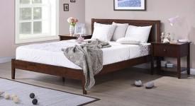 Urban Ladder Brandenberg Solid Wood King Bed(Finish Color - Dark Walnut)