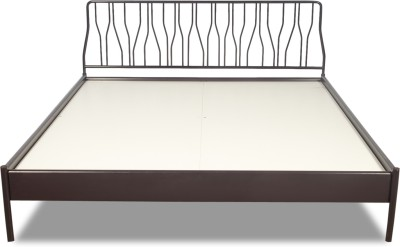 Godrej Interio Metal King Bed(Finish Color - Wine Red)