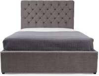 Dream Furniture Solid Wood King Bed(Finish Color -  Grey)
