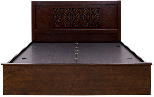 HomeTown Astra Solid Wood King Bed With Storage(Finish Color - WENGE)