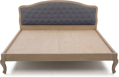 Urban Ladder Lyon Upholstered Solid Wood King Bed(Finish Color - Natural)