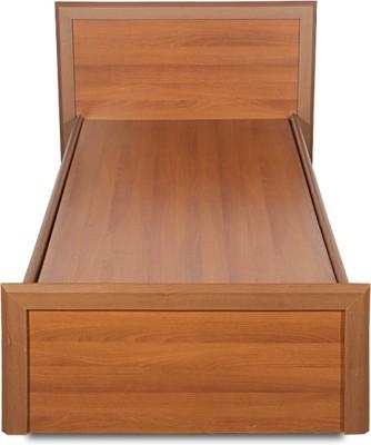 Godrej Interio Adriana Engineered Wood Single Bed(Finish Color - Walnut)