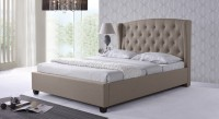 Urban Ladder Holmebrook Upholstered Engineered Wood King Bed(Finish Color -  Bone White)