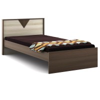 Spacewood Engineered Wood Single Bed(Finish Color -  Mol Acacia)
