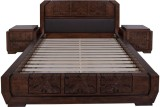 Evok Ambrosia Solid Wood Queen Bed (Fini...