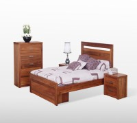 Tezerac Solid Wood Queen Bed With Storage(Finish Color -  Brown)