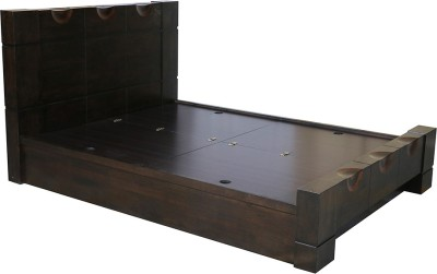 HomeTown Enrique Engineered Wood King Bed With Storage(Finish Color -  Wenge)