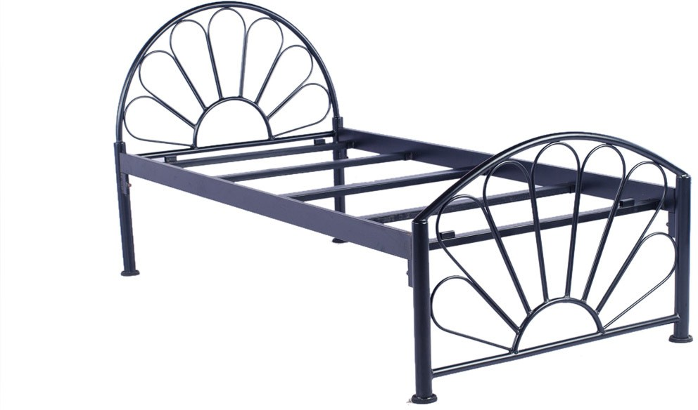 View Irony Furniture Metal Single Bed(Finish Color -  Black) Furniture (Irony Furniture)