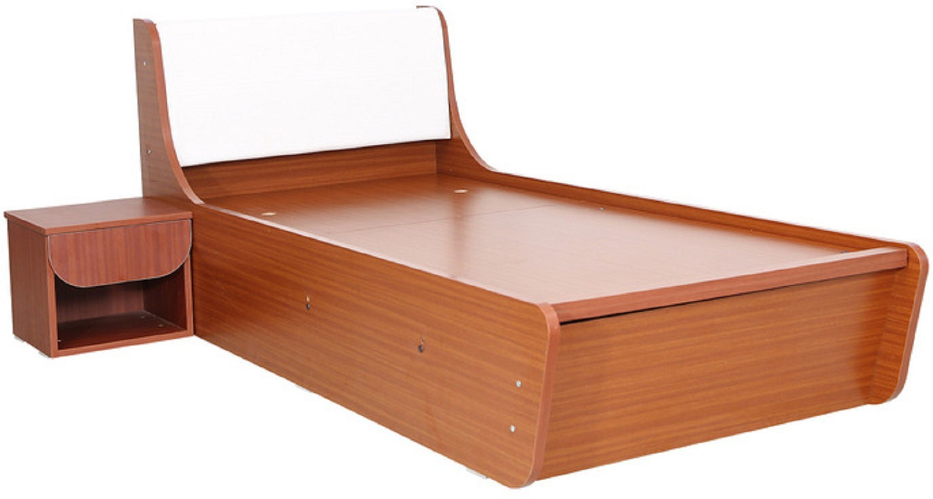 View RAWAT Engineered Wood Single Bed With Storage(Finish Color -  Sapheli) Furniture (RAWAT)