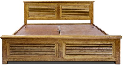 Evok Rivieria Solid Wood King Bed With Storage