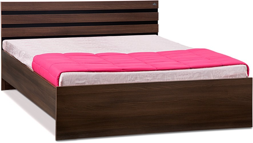 View Debono Cocoa AD BL NB Bed Engineered Wood Queen Bed(Finish Color -  Black & Acacia Dark Matt Finish) Furniture (Debono)