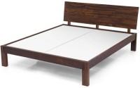 Urban Ladder Boston Solid Wood King Bed(Finish Color -  Teak)