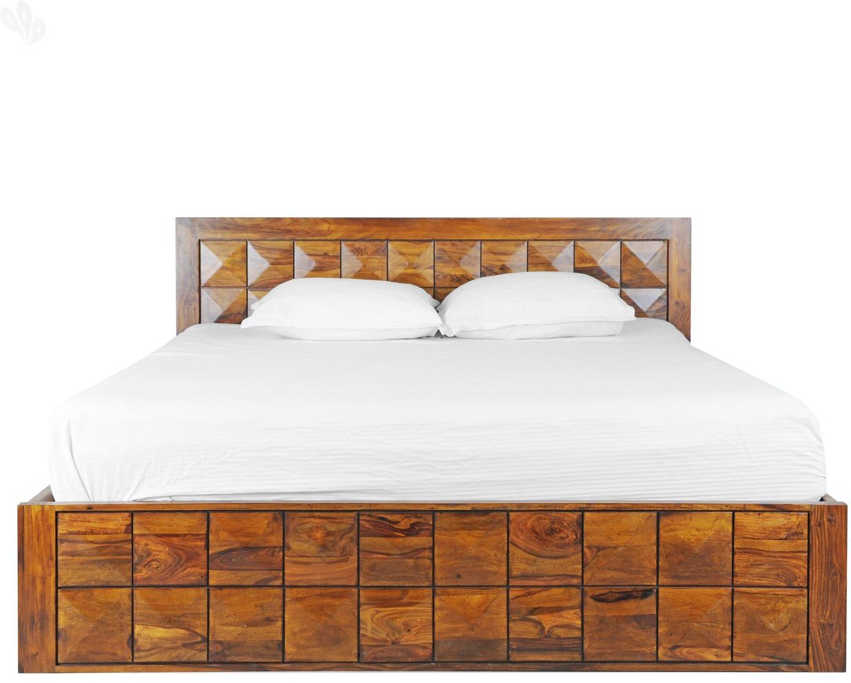 View Amaani Furniture's Solid Wood Queen Bed(Finish Color -  Honey Brown) Furniture (Amaani Furniture's)