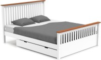 Urban Ladder Athens Solid Wood Queen Bed With Storage(Finish Color -  White)