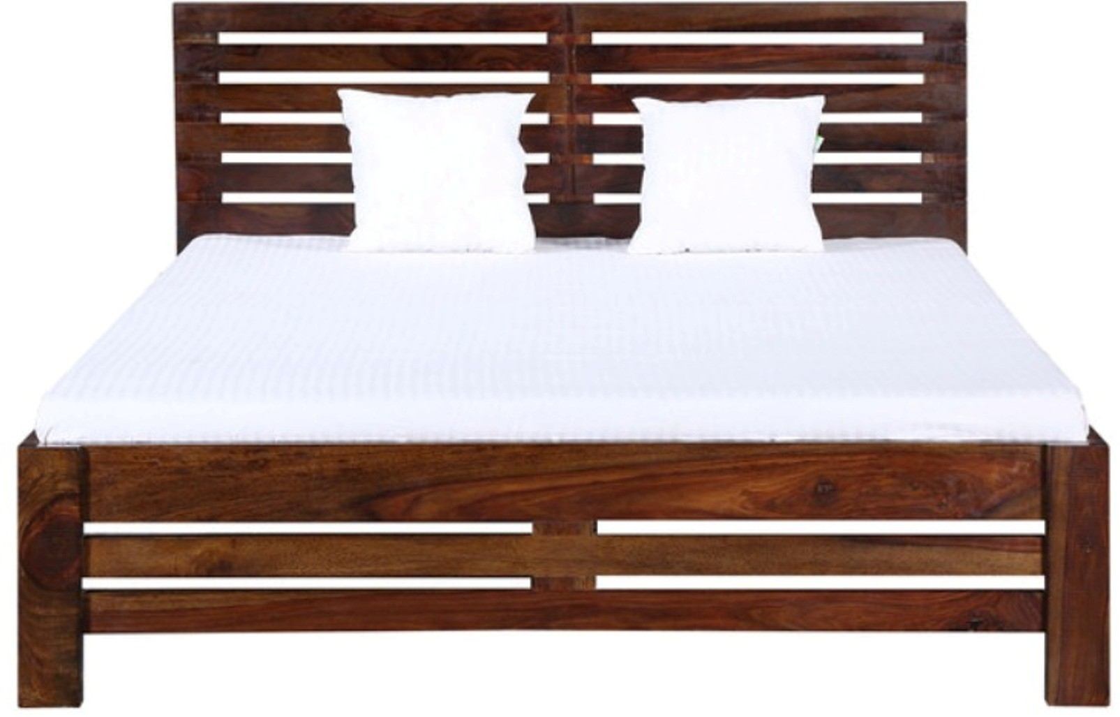 View Amaani Furniture's Solid Wood Queen Bed(Finish Color -  Teak Brown) Furniture (Amaani Furniture's)