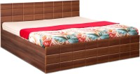 Debono Checkers WM BS Bed Engineered Wood Queen Bed With Storage(Finish Color -  Walnut & Acacia Dark Matt Finish)