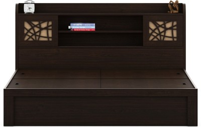 Spacewood Engineered Wood Queen Bed With Storage(Finish Color - Melamine)