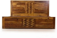 Evok Imporio Solid Wood Queen Bed With Storage(Finish Color -  Walnut)