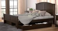Urban Ladder Wichita Solid Wood Queen Bed With Storage(Finish Color -  Dark Walnut)
