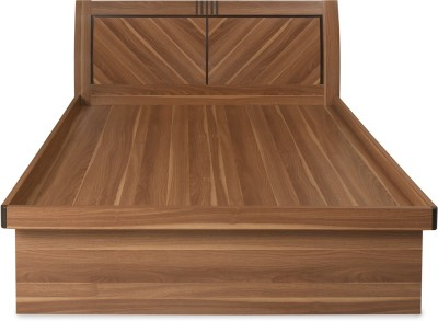 @home by Nilkamal Volta Engineered Wood Queen Bed With Storage(Finish Color -  Light Walnut)