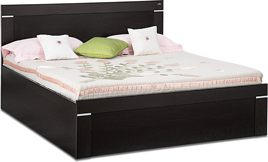 View Debono Solitaire W Engineered Wood Queen Bed With Storage(Finish Color -  Wenge Matt Finish) Furniture (Debono)