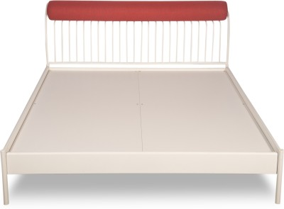Godrej Interio Liva Piano Metal King Bed(Finish Color - White)