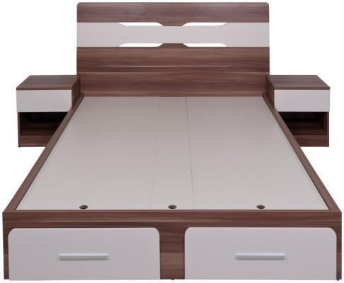 Evok Anne Engineered Wood Single Bed With Storagefinish Color Cream Whitemaple