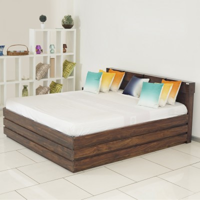 Godrej Interio Solid Wood King Bed With Storage