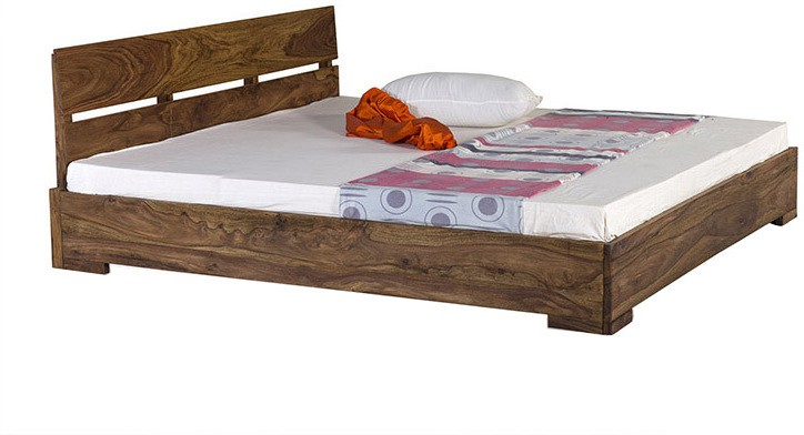 Smart Choice Furniture Smart Choice Rosewood (Sheesham) JIBD06 Matte Finish Solid Wood Queen Size Bed Solid Wood Queen Bed class=