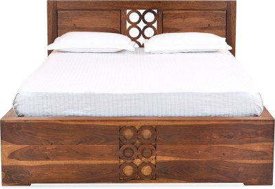 @home by Nilkamal Annulus Solid Wood Queen Bed With Storage(Finish Color -  NA)