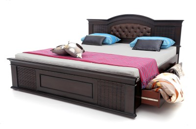 Furnicity Engineered Wood Queen Bed With Storage