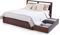 Urban Ladder Strata Solid Wood Queen Bed With Storage(Finish Color -  Mahogany)