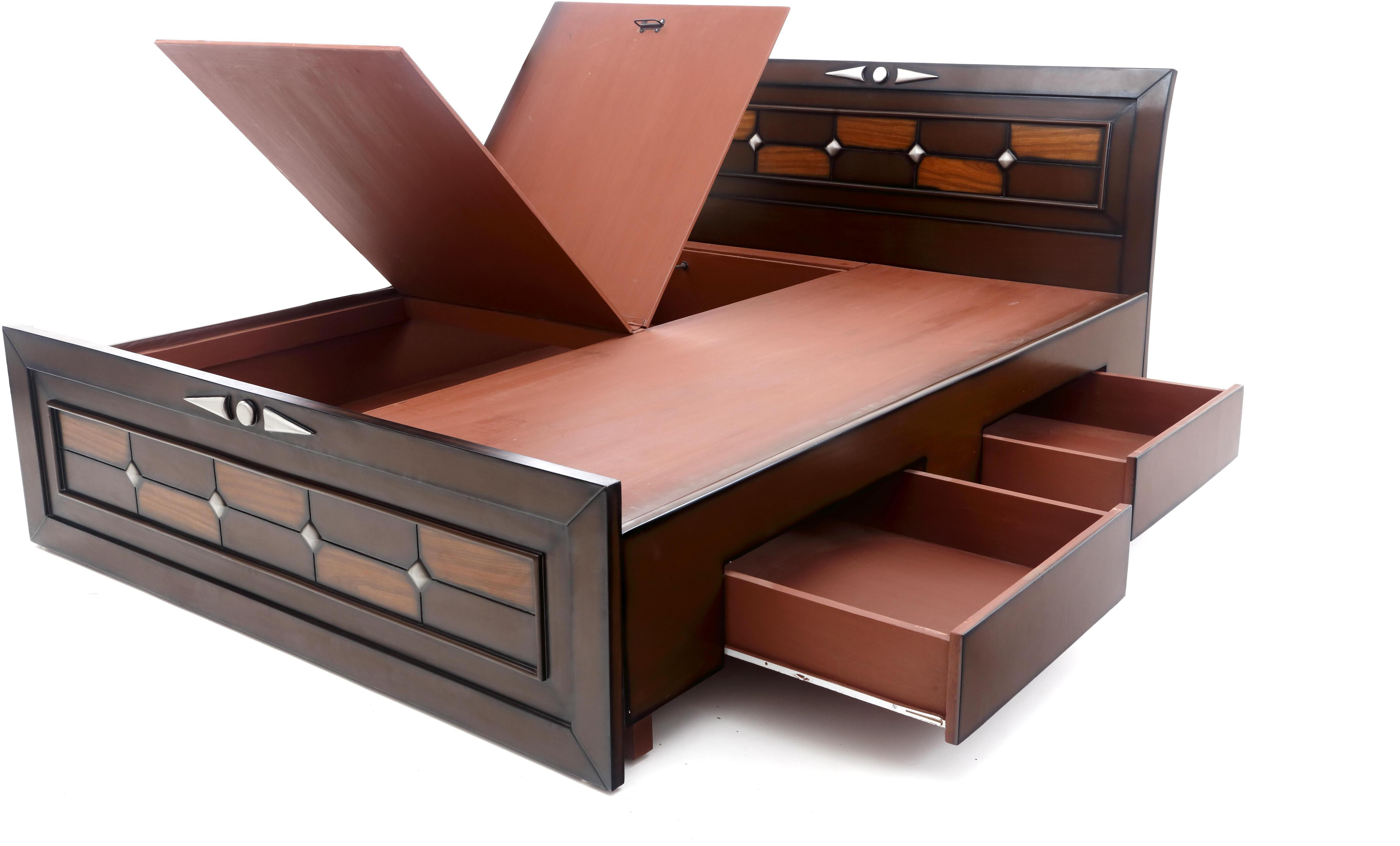 furnicity engineered wood king bed with color