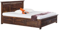 Smart Choice Furniture Smart Choice Rosewood (Sheesham) JIBD11 Matte Finish Solid Wood King Size Bed Solid Wood King Bed With Storage(Finish Color -  Walnut)