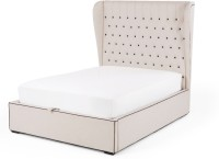 Dream Furniture Solid Wood King Bed(Finish Color -  White)