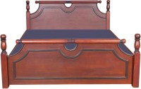 Woodbeei Solid Wood Queen Bed(Finish Color -  Teak)