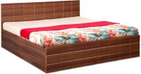 Debono Checkers WM BS Bed Engineered Wood King Bed With Storage(Finish Color -  Acacia Dark and Walnut Matt)