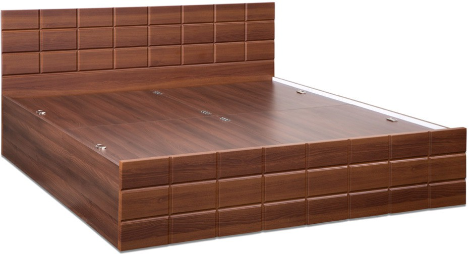 Debono Checkers Engineered Wood King Bed With Storage