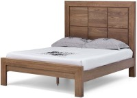 Tezerac Solid Wood Queen Bed(Finish Color -  Natural)