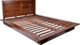 Blueginger Low Profile Bed Solid Wood Qu...