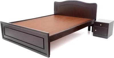 Furnicity Engineered Wood Queen Bed(Finish Color -  Wenge)
