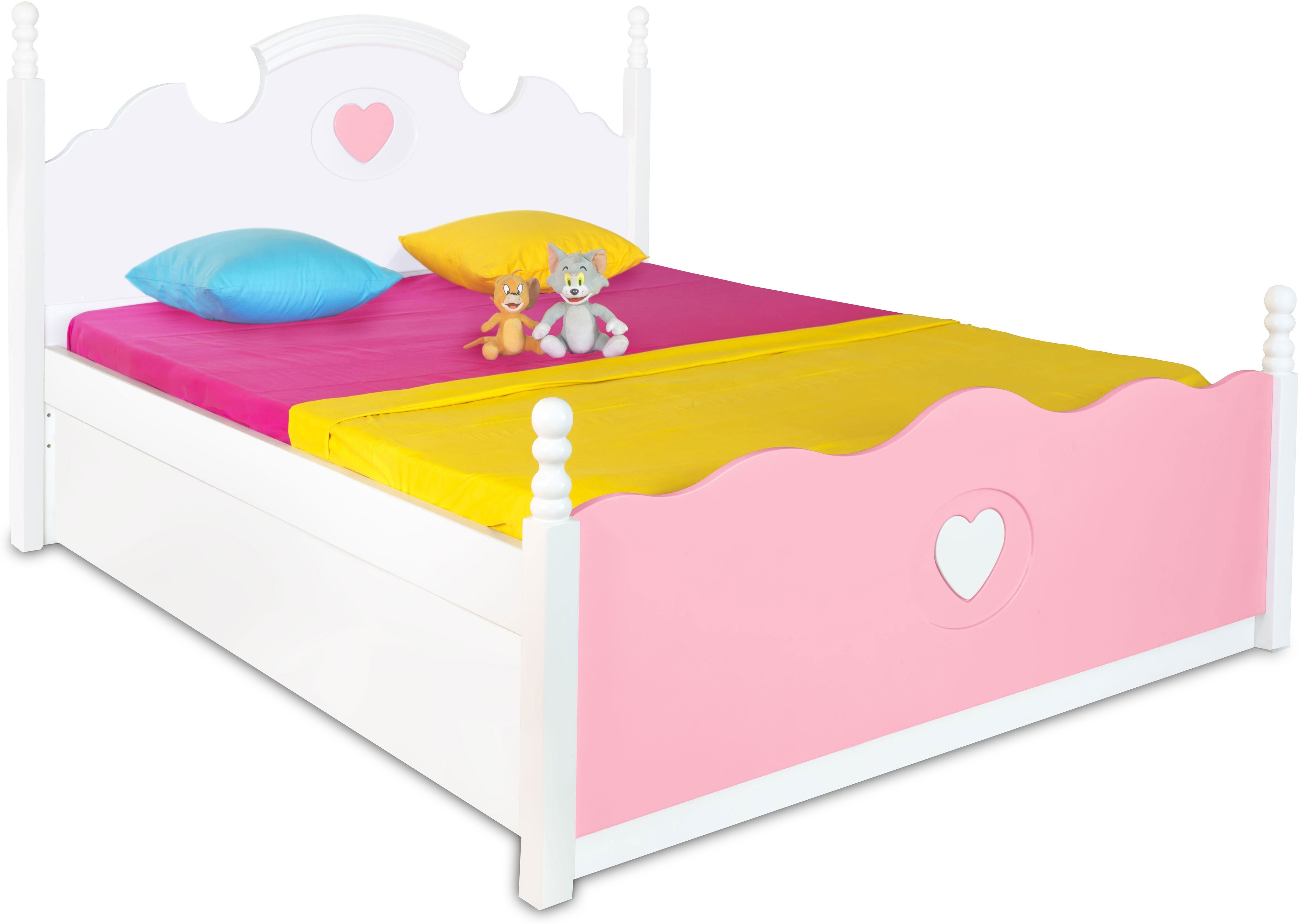 View Alex Daisy Victoria Engineered Wood Single Bed With Storage(Finish Color -  Pink & White) Price Online(Alex Daisy)