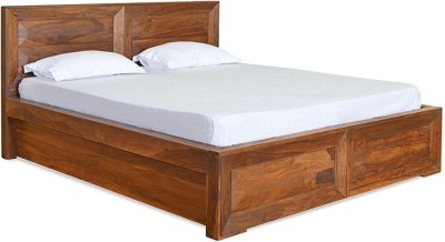 @home by Nilkamal Cubus Solid Wood King Bed With Storage