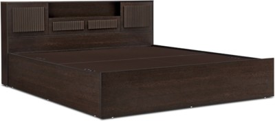 HomeTown Tiago Engineered Wood King Bed With Storage(Finish Color - Wenge)