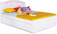 Alex Daisy French Engineered Wood Queen Bed With Storage(Finish Color -  Pink & White)